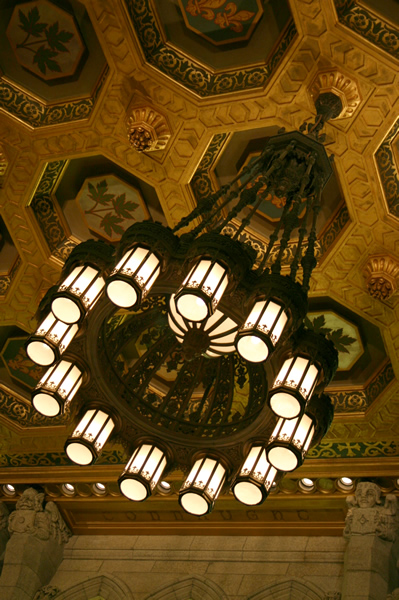 Ottawa Parliament Chandelier, April 25, 2009