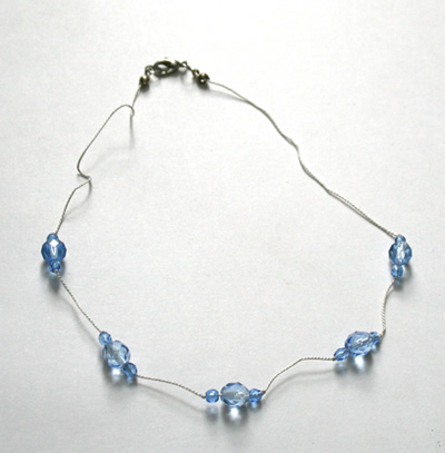 Blue translucent necklace