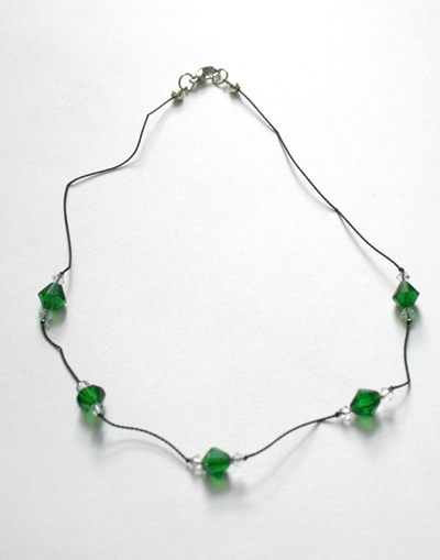 Emerald colour necklace