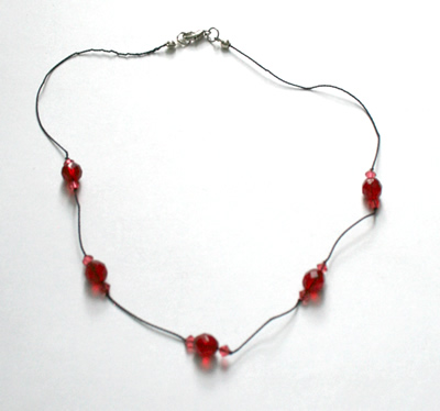 Red translucent necklace