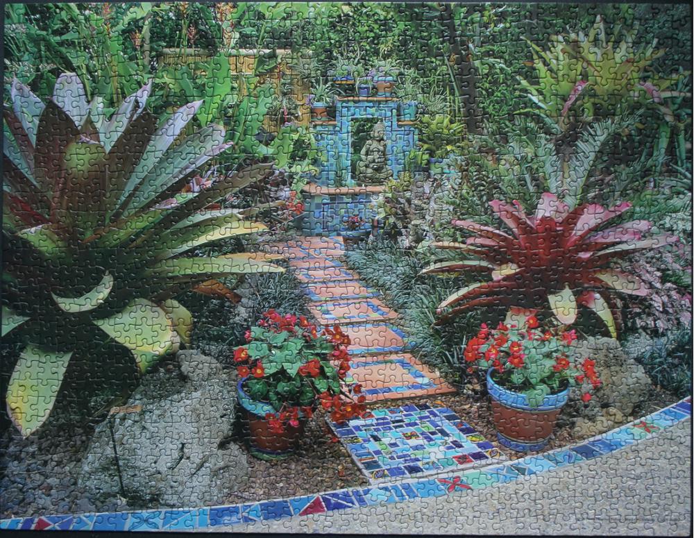 Tropical Zen Garden Design Photograph Puzzle Tropical Med
