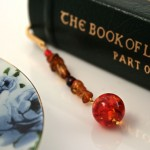 Amber fantasy gold plated bookmark, etsy, book, medium