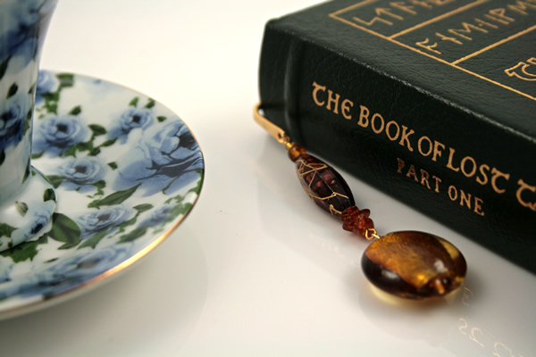 Autumn evening gold plated bookmark, etsy, book, medium