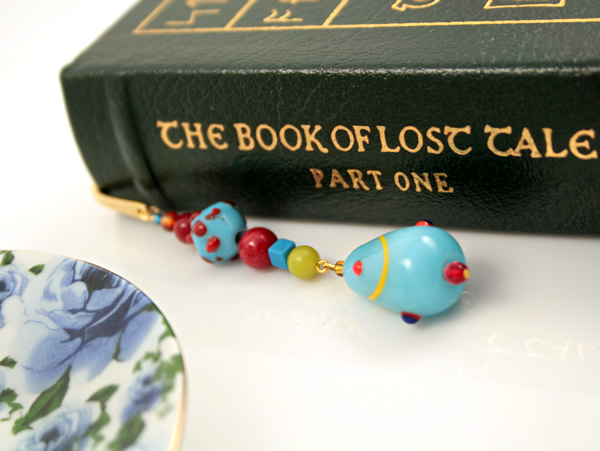 Blue candy gold plated bookmark, etsy, book, medium