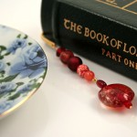Candy red gold plated bookmark, etsy, book, medium
