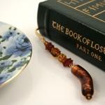 Flowing sunlight gold plated bookmark, etsy, book, medium
