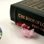 Flying piggy silver plated bookmark, etsy, book, medium