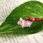 Flying piggy silver plated bookmark, etsy, leaf, medium