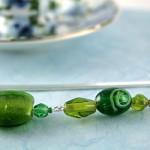 Green lantern silver plated bookmark, etsy, blue bg, medium