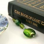Green lantern silver plated bookmark, etsy, book, medium