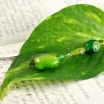 Green lantern silver plated bookmark, etsy, leaf, medium