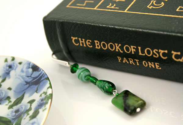 Meadows green silver plated bookmark, etsy, book, medium