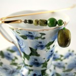 Mountain green gold plated bookmark, etsy, blue cup, medium