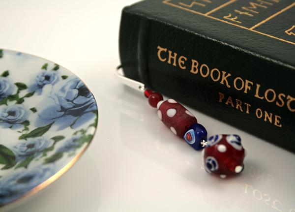 Polka dot candy silver plated bookmark, etsy, book, medium