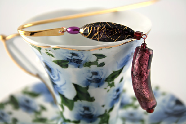 Purple haze gold plated bookmark, etsy, blue cup, medium