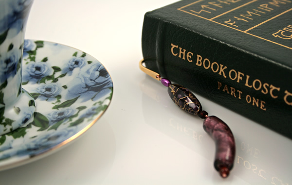 Purple haze gold plated bookmark, etsy, book, medium