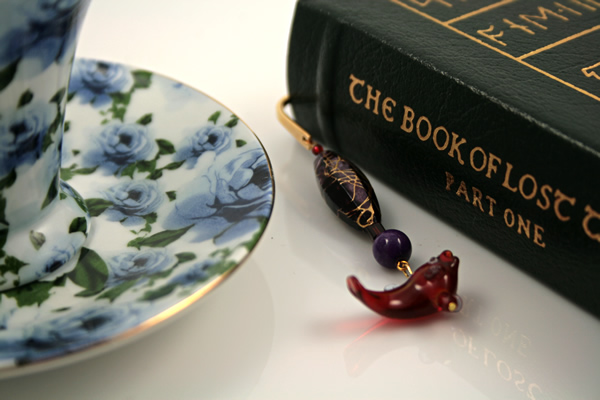 Sea purple gold plated bookmark, etsy, book, medium