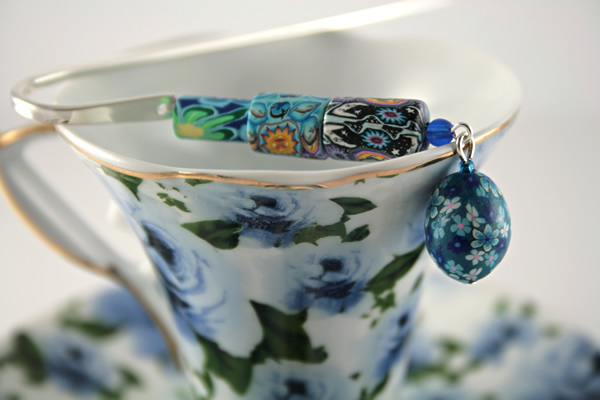 Sun dance silver plated bookmark, etsy, blue cup, medium
