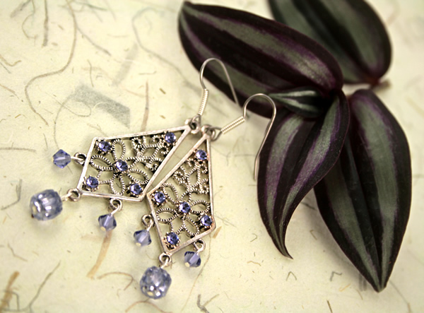 Dreamy lilacs earrings, etsy, leaf, medium