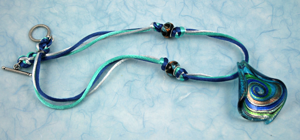 Ocean breeze necklace, etsy, blue full, medium