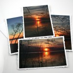 River sunset cards, etsy, even, medium