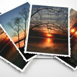River sunset cards, etsy, front deck, medium