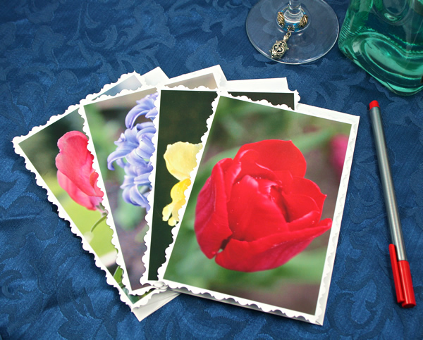 Spring garden cards, etsy, front tulip, medium