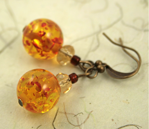 Sunny splash earrings, etsy, beige bg, medium