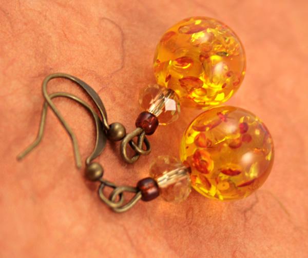 Sunny splash earrings, etsy, peach bg, medium
