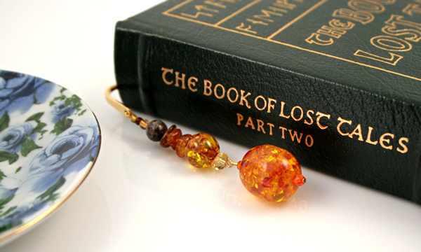 Amber cave gold plated bookmark, etsy, book, medium