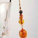 Amber cave gold plated bookmark, etsy, glass, medium