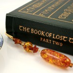 Amber trail gold plated bookmark, etsy, book, medium