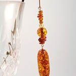 Amber trail gold plated bookmark, etsy, glass, medium