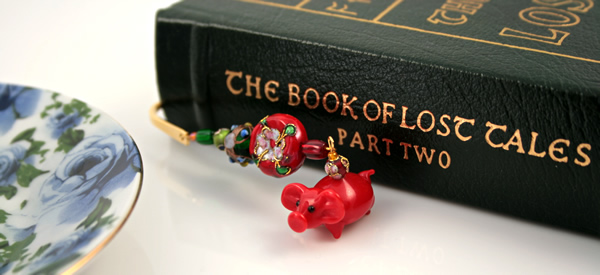 Chinese piggy gold plated bookmark, etsy, book, medium