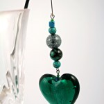 Heart of the ocean silver plated bookmark, etsy, glass, medium