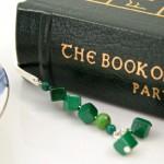 Malachite trail silver plated bookmark, etsy, book, medium