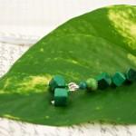 Malachite trail silver plated bookmark, etsy, leaf, medium