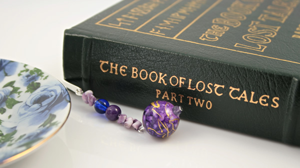Purple bubbles silver plated bookmark, etsy, book, medium