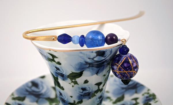 Purple lantern gold plated bookmark, etsy, blue cup, medium