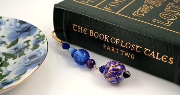 Purple lantern gold plated bookmark, etsy, book, medium