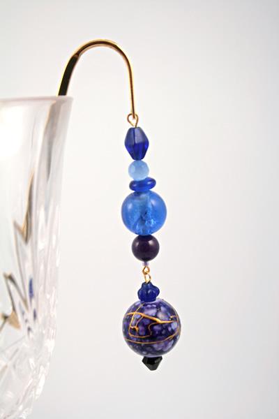 Purple lantern gold plated bookmark, etsy, glass, medium