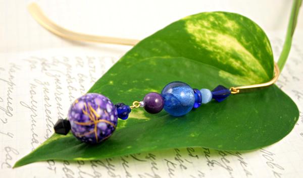 Purple lantern gold plated bookmark, etsy, leaf, medium