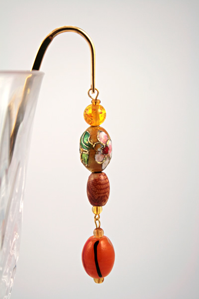 Sunny flower gold plated bookmark, etsy, glass, medium