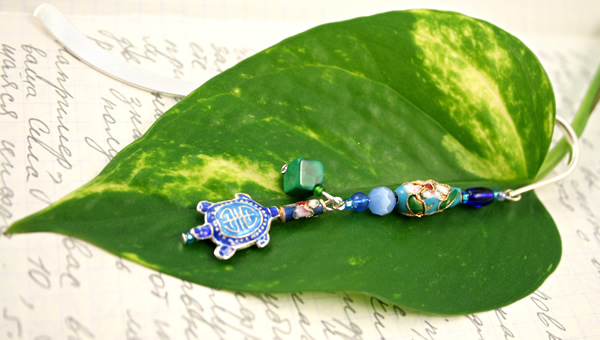 The turtle moves silver plated bookmark, etsy, leaf, medium