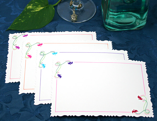 Blossom waves cards, etsy, back, md