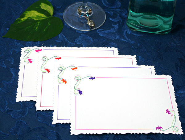 Flower constellations cards, etsy, back, md