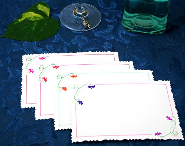 Flower crown cards, etsy, back, md