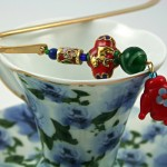 Chinese Teapot bookmark, cup, md
