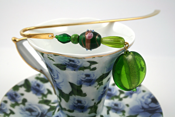 Green Lollipop bookmark, cup, md