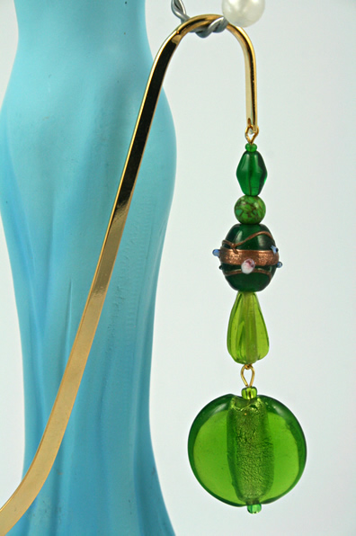Green Lollipop bookmark, model, md